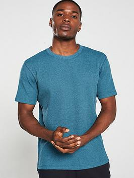V by Very V By Very Waffle Short Sleeve T-Shirt - Teal Picture