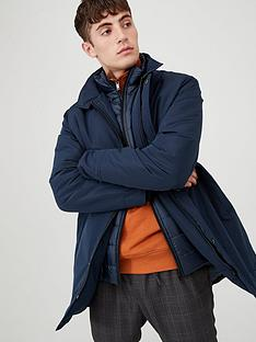 v-by-very-mock-2-in-1-funnel-neck-coat-navy