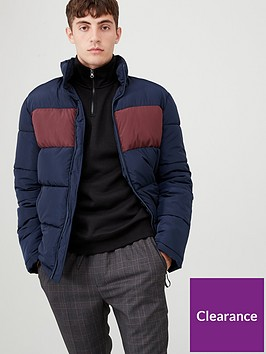 very-man-colourblock-padded-jacket-navymaroon