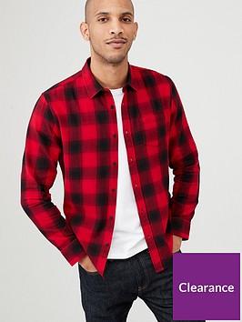 very-man-long-sleeved-check-shirt-redblack