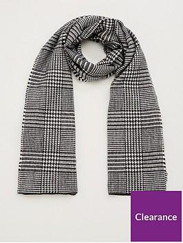 v-by-very-prince-of-wales-checked-scarf-grey