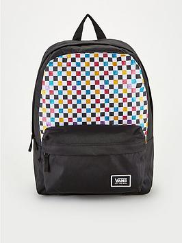 vans-glitter-check-realm-backpack-blackmulti