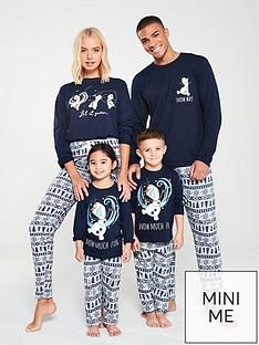 disney-frozen-womens-family-christmas-pyjamas-navy
