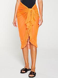 kate-wright-long-neon-mesh-beach-sarong-orange