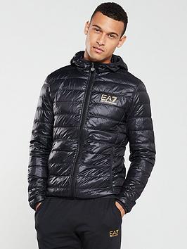 EA7 Emporio Armani Ea7 Emporio Armani Core Id Hooded Padded Jacket - Black Picture
