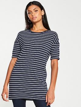 v-by-very-the-essential-short-sleeve-longline-top--nbspstripe