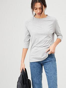 V by Very V By Very The Essential Raglan Sleeve Tee - Grey Marl Picture