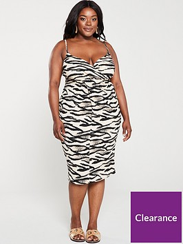 v-by-very-curve-wrap-front-tiger-dress-print