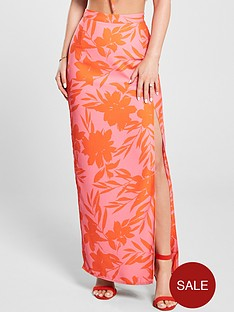 kate-wright-neon-print-side-split-maxi-skirt-floral-print