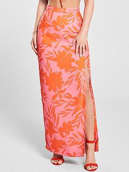 kate-wright-neon-print-side-split-maxi-skirt-floral-print