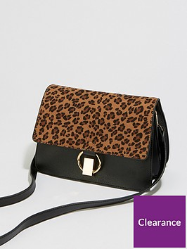 warehouse-leopard-mixed-material-bag