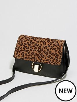 warehouse-leopard-mixed-material-bag