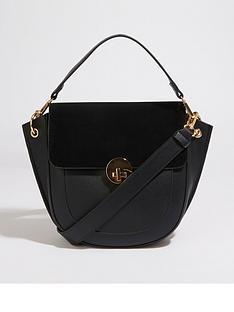 warehouse-satchel-lock-cross-body-bag