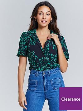 michelle-keegan-puff-ball-sleeve-printed-shirt-leopard