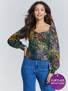 michelle-keegan-button-front-long-sleeve-blouse-multi-animal