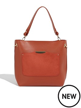 oasis-sadie-ring-detail-hobo-bag-orange