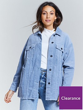 michelle-keegan-oversized-cord-shirt-blue