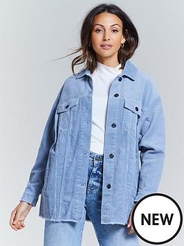 michelle-keegan-oversized-cord-shirt-blue