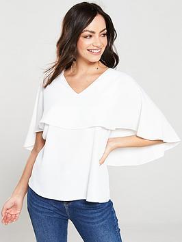 v-by-very-cape-sleeve-v-neck-blouse-white
