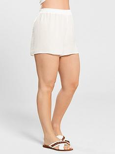 kate-wright-sheer-textured-beach-short-white