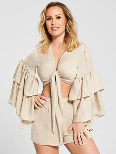 kate-wright-sheer-textured-beach-satin-tie-front-topnbsp--nude
