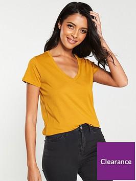 v-by-very-the-essential-basic-v-neck-t-shirt-mustard