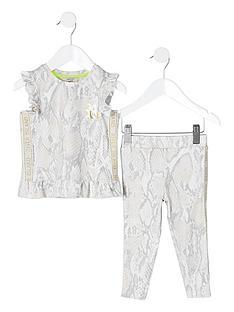 river-island-mini-mini-girls-ri-active-snake-top-outfit-beige