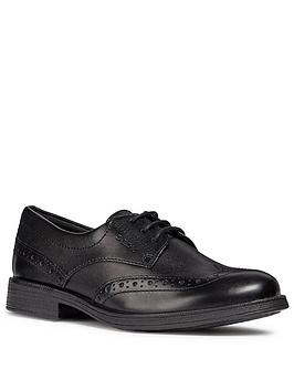 Geox Geox Agata Lace Up School Brogues - Black Picture