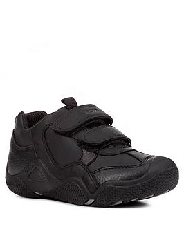Geox Geox Wader Leather Strap School Shoes - Black Picture