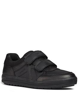 Geox Geox Arzach Leather Strap School Shoes - Black Picture