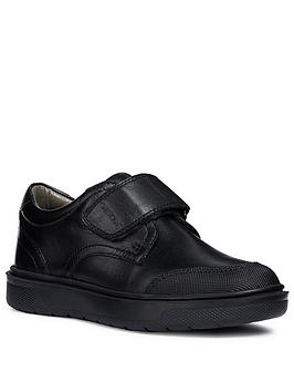 Geox Geox Riddock Leather Strap School Shoes - Black Picture