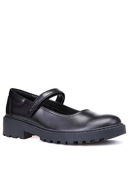Geox Geox Casey Leather Mary Jane School Shoes - Black Picture