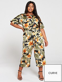 ax-paris-curve-floral-jumpsuit-multi