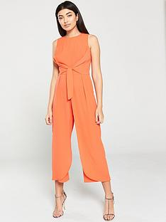 ax-paris-overlay-culotte-jumpsuit-orange