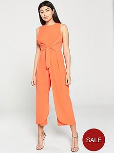 ax-paris-overlay-culotte-jumpsuit-orange