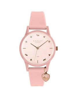 radley-radley-pink-and-rose-gold-heart-charm-dial-pink-silicone-strap-ladies-watch