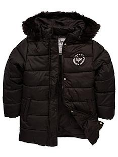 hype-girls-longline-padded-coat-black