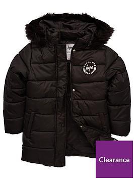 hype-girls-longline-padded-coat-black