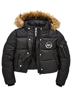 hype-girls-cropped-parka-black