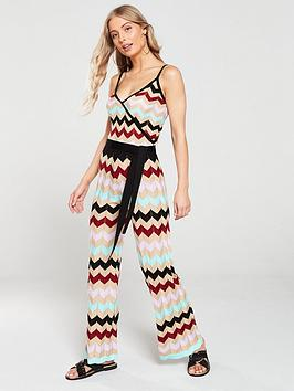 river-island-river-island-chevron-striped-knit-jumpsuit--stripe