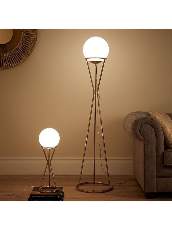 Laurel Gl Ball Gold Metal Floor Lamp