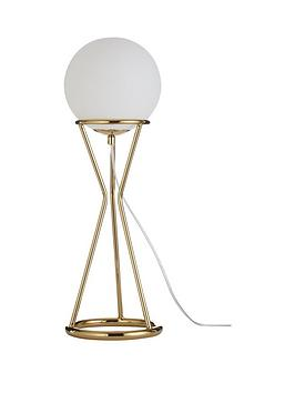 Very Laurel Glass Ball Gold Metal Table Lamp Picture