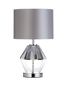 Very  Capri Diamond Shape Faceted Table Lamp