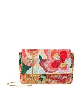 Accessorize Accessorize Jasmine Floral Beaded Clutch Bag - Multi Picture
