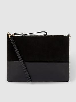 Accessorize   Carmela Leather Cross-Body Bag - Black