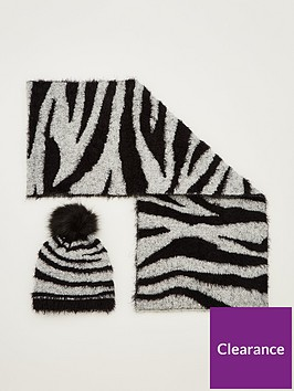 v-by-very-fluffy-zebra-hat-and-scarf-set-blackwhite