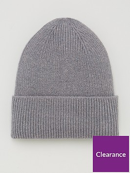 v-by-very-ribbed-knitted-beanie