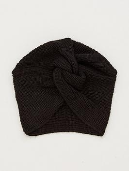 V by Very V By Very Knitted Turban - Black Picture