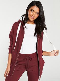 v-by-very-oversized-zip-through-hood-burgundy