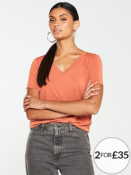 v-by-very-the-essential-v-neck-soft-touch-top-rust